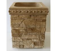 Бетонная декоративная цветочница древний пласт Д-054. 50 литров